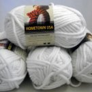 Lion Brand Hometown USA Yarn 5 oz, 142 g,81 yds,74m  - Lot of 4 skeins color New York White 100