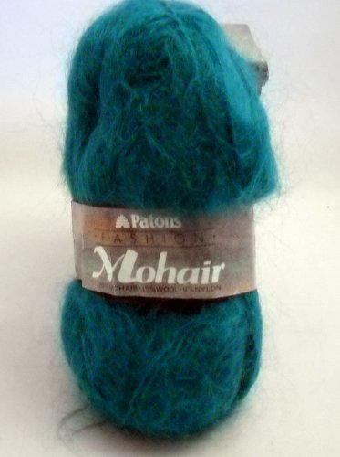 Patons Fashion Mohair 76% mohair, 15% wool, 9% nylon -  clr 2871 Jade ( lot 22)