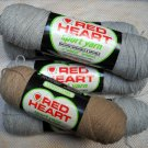 Red Heart Sport Yarn from Coats & Clark 2 oz (56.7 g) 2 ply skein - 4 sks silver and 1 sk camel