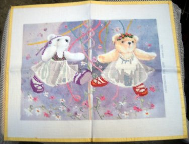 Almost Complete Dimensions No Count Cross Stitch Kit (1987 Made in USA ) - Maypole Bears 3639