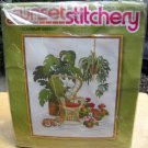 Vintage Sunset Stitchery Crewel Kit (1977)  - Solarium Garden