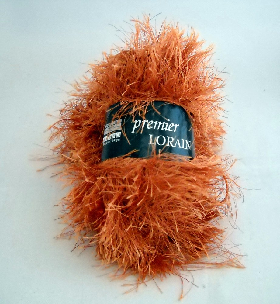 Premier Lorain Fun Fur Yarn 50 g skein - 2 skeins copper color 1134