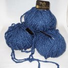 8 Skeins- Karabella - Puffy ~ 100% Merino Wool. Color # 55 - Slate Blue