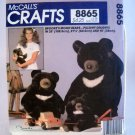 Pattern 8865 from McCall's Crafts (1982) - Brooke's Moon Bears Pillowy Delights