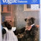 Pattern 7572 from Vogue (1989) - Daddy and Mommy Bears
