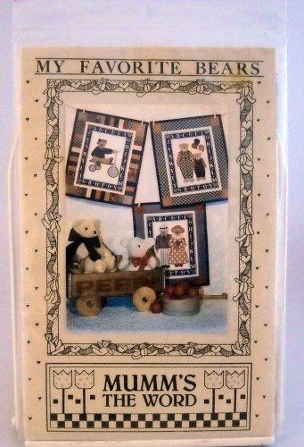 Mumm's The Word Applique Design Patterns(1988) - My Favorite Bears