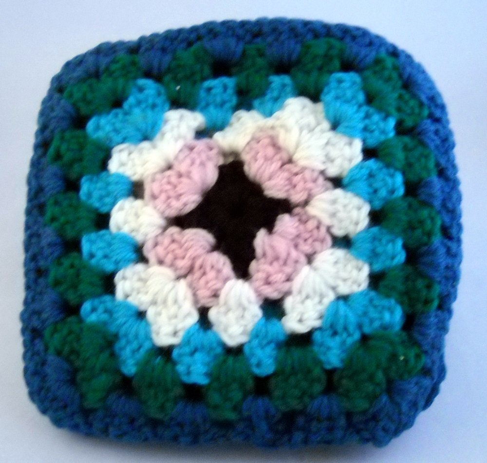 "6-1/2"" hand crocheted squares - Lot of 13"