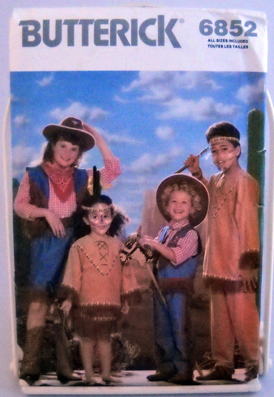 Butterick Children's/Boys'/Girls' Costumes Pattern 6852 - (1988)  - Size S,M,L,XL