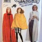 Simplicity Pattern 7016 - (1990) - Size A (PT-XL) -Long Unlined Cape and Short Wrap Cape
