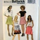 Butterick Pattern B5613 (2011) Size AA(6-8-10-12) - Misses' Skirt and Sash