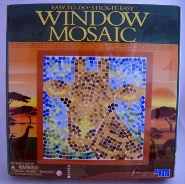 Giraffe Window Mosaic Kit by 4M - Window Mosaic Safari 3454