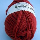 1 Skein Wintuk by Woolworth 3-1/2 oz.,(99 g) 4 ply color cardinal red 31