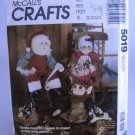 McCall's Crafts Pattern 5019 - (1990)  - Santa, Mrs. Claus or Elf Doll and Clothes