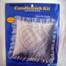 Paragon Creative Moments Candlewicking Kit Lace Edged Pillow - 8263 Heart
