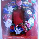 Plaid Bucilla Felt Applique Christmas Wreath Kit - Christmas Toys 86363