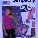 Simplicity Pattern 5274 - (2003) - Junior's pants,knit tops,cap and back-pack