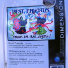 Dimensions Stamped cross stitch kit  - 70-65106 Best Friends come in all sizes!