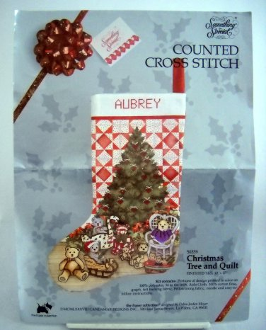 Counted Cross Stitch Kit Candamar Designs Inc. (1988 ) - Christmas Tree and Quilt 50359