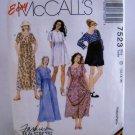 McCall's Pattern 7523(1996) - Size D(12,14,16) misses' dress