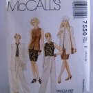 McCall's Pattern 7550(1996) - Size D(12,14,16) misses' unlined jacket,top,skirt,pants