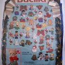 Bucilla Felt Applique Christmas Ornaments Kit (c1991) - Lotsa Christmas 82933