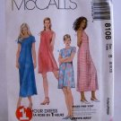 McCall's Pattern 8108(c.1996) - Size B(8,10,12) misses' dress