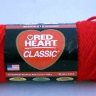 Red Heart Classic Yarn from Coats & Clark 3.5 oz (100 g) skein -  color 0912 cherry red