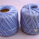 J & P Coats cotton Knit Cro-Sheen 175 yd Cotton Thread - 2 balls light blue