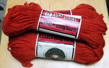 Vintage Aunt Lydia's, Caron Craft and Rug Yarn  (60 yds) Lot of 3 skeins color Adobe 0375