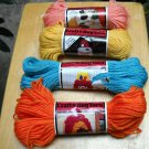 Vintage Aunt Lydia's Caron Craft and Rug Yarn  (60 yds) Lot of 4 skeins assorted colors