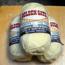 Vintage Golden Gate Worsted Knitting Yarn 4 oz  skein - Lot of 3 skeins pale yellow