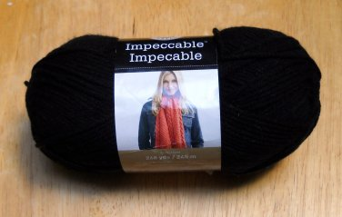 Loops & Threads Impeccable 4.5 oz(128 g) worsted color black 01040