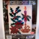 Vintage National Yarn Crafts Latch Hook Kit size 18inx24in - Christmas Candle XR78