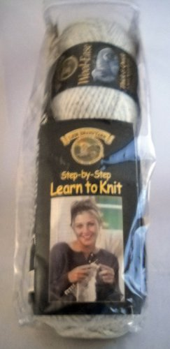 Lion Brand 'Step-by-Step Learn to Knit' Kit