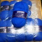 Thorobred Scheepjeswol pure wool brushed DK   - Lot of 9 skeins color 538 persian blue