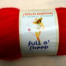 full o' sheep Stitch Nation by Debbie Stroller 3.5 oz (100 g) skein - color poppy 2910