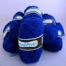 Jakobsdals Tweed-Perle yarn color 171 blue Lot of 7 (50g) skeins