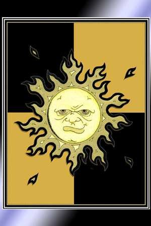 Black and Gold Sun