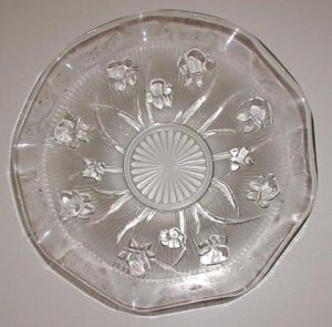 Iris & Herringbone Bowl by Jeannette Glass - CB0004