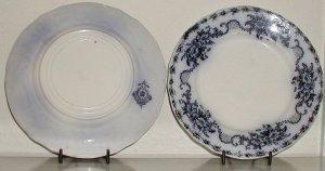 Mentone Flow Blue Plate by Meakin - B0014