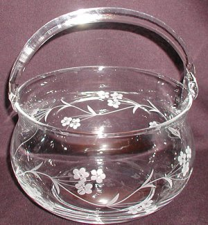 Elegant Crystal Basket - CB0022