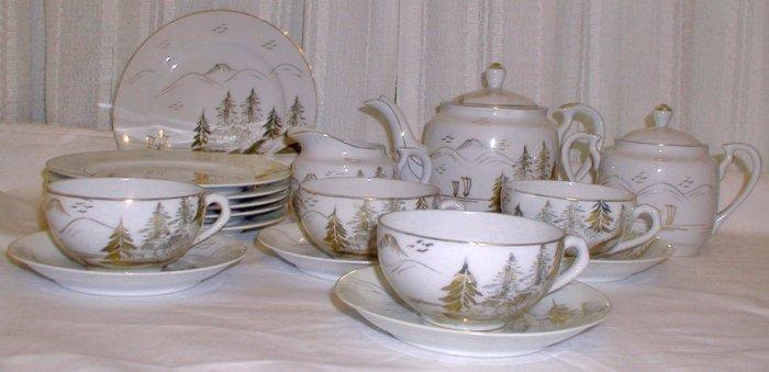 Kutani Lithophane Tea Set L0056