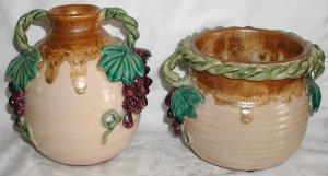 Unique Grape Decorated  Pots - CB0028
