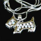 Scottish Dog Swarovski Crystal Necklace