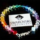 Rainbow Chakra Sterling Silver Swarovski Crystal Bracelet