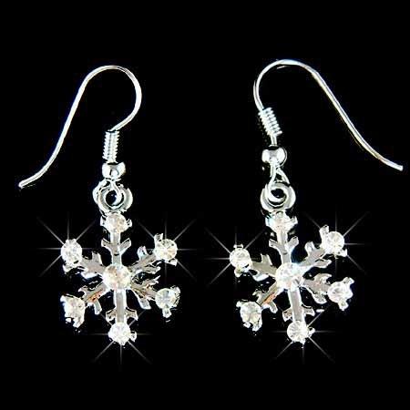 Christmas Snowflake Swarovski Crystal Earrings