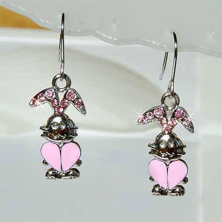 Bunny Rabbit Swarovski Crystal Earrings