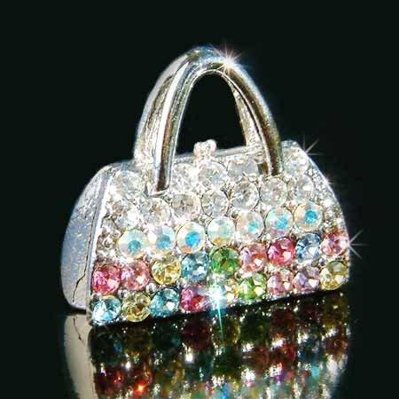 Rainbow Handbag Swarovski Crystal Brooch