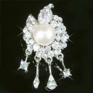 Bridal Flower Swarovski Crystal & Pearl Brooch