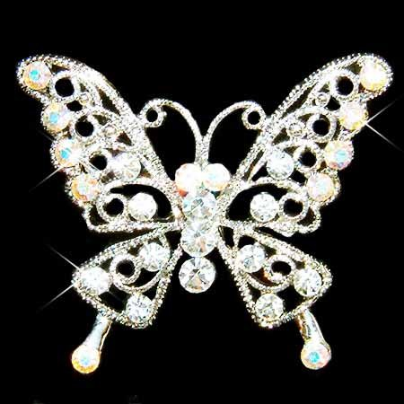 Clear Cutout Butterfly Swarovski Crystal Brooch